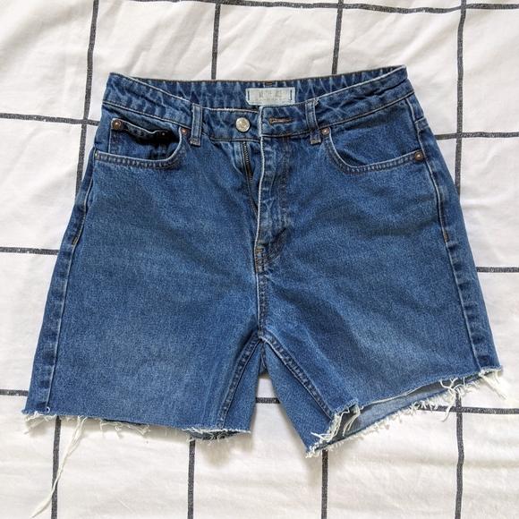 Free People Blue Denim Shorts